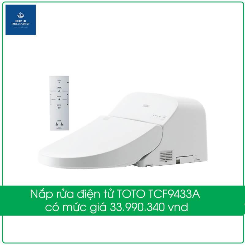 Nắp rửa điện tử TOTO TCF9433A