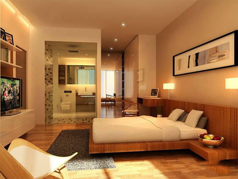 Nguyên tắc thiết kế phong thủy nhà vệ sinh trong phòng ngủ