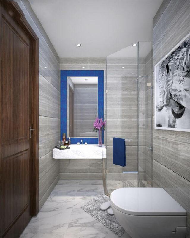 Những mẫu phòng tắm đẹp cho nhà ống