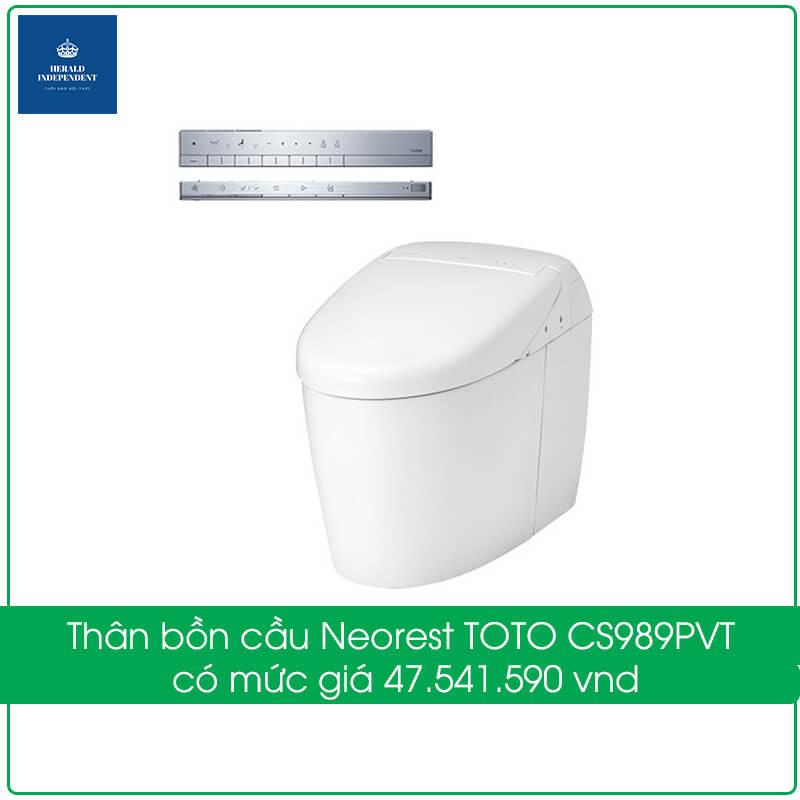 Thân bồn cầu Neorest TOTO CS989PVT