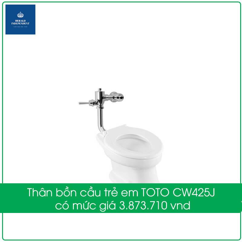 Thân bồn cầu trẻ em TOTO CW425J