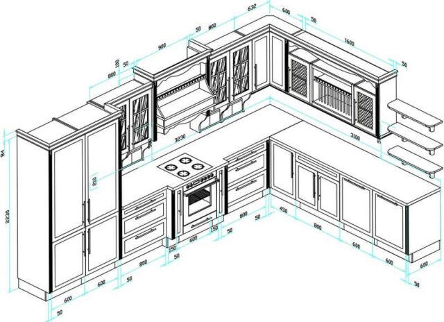 Thế nào là kích thước tủ bếp chuẩn?