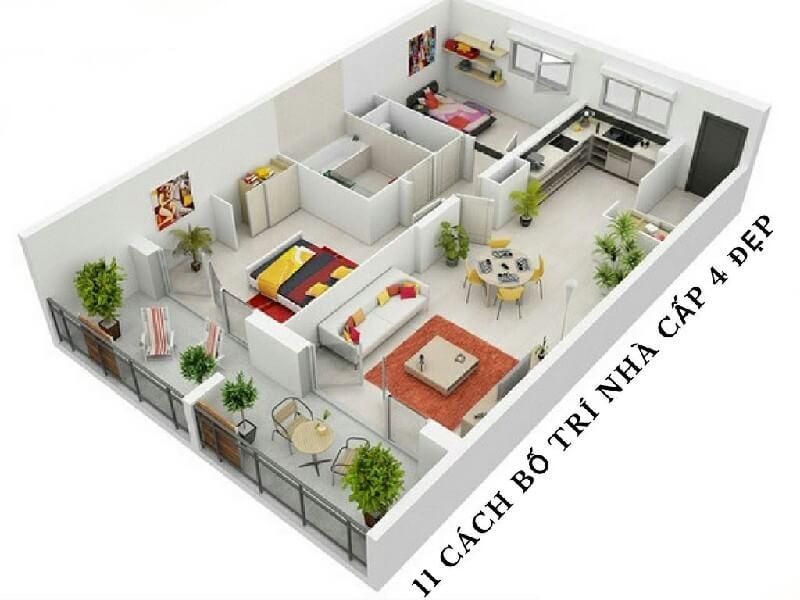 Ý tưởng trang trí phòng bếp nhà cấp 4