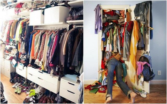 Loại bỏ bớt quần áo không mặc