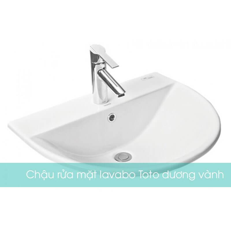 Chậu rửa mặt lavabo Toto dương vành