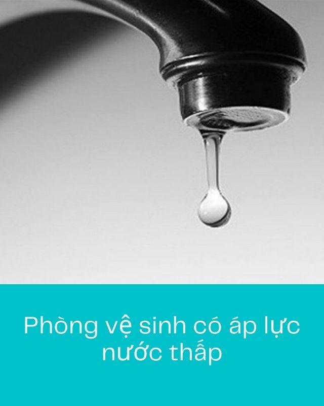 nhà vệ sinh có áp lực nước quá yếu