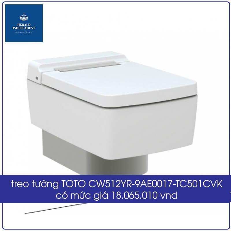 treo tường TOTO CW512YR-9AE0017-TC501CVK