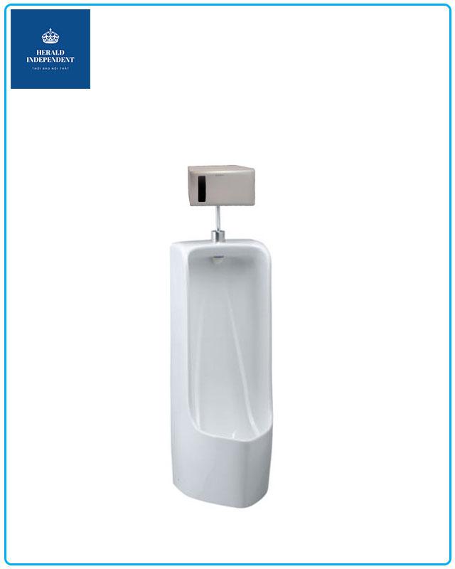 Báo giá bồn tiểu nam treo tường, cảm ứng, không dùng nước Caesar UF0265