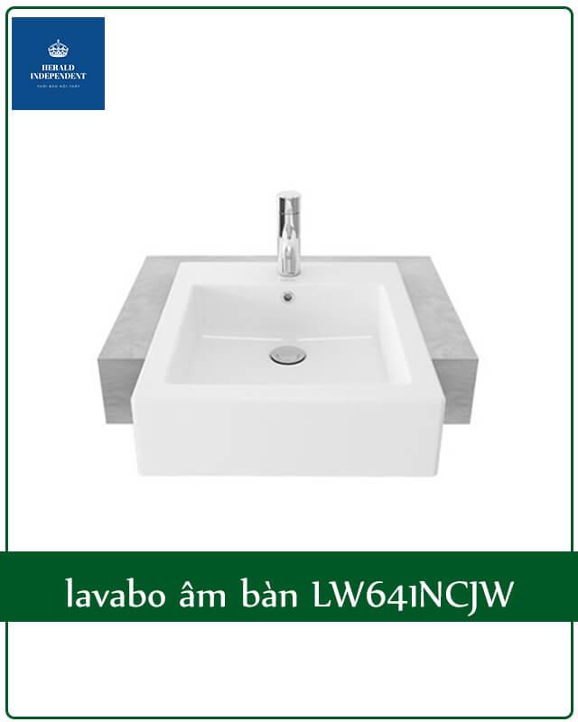 Báo giá lavabo âm bàn LW641NCJW