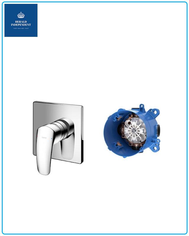Bộ xả Lavabo - phụ kiện van Toto điều chỉnh nóng lạnh GM kèm phụ kiện âm tường TBG09303V/TBN01001B