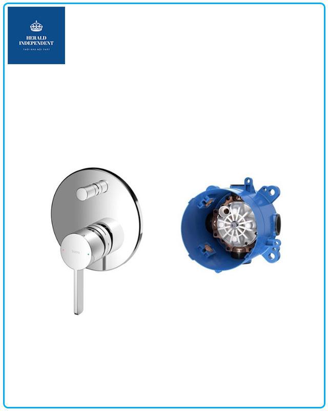 Bộ xả Lavabo - phụ kiện van điều chỉnh nóng lạnh Toto kèm phụ kiện âm tường TBG1034V/TBN 01001B
