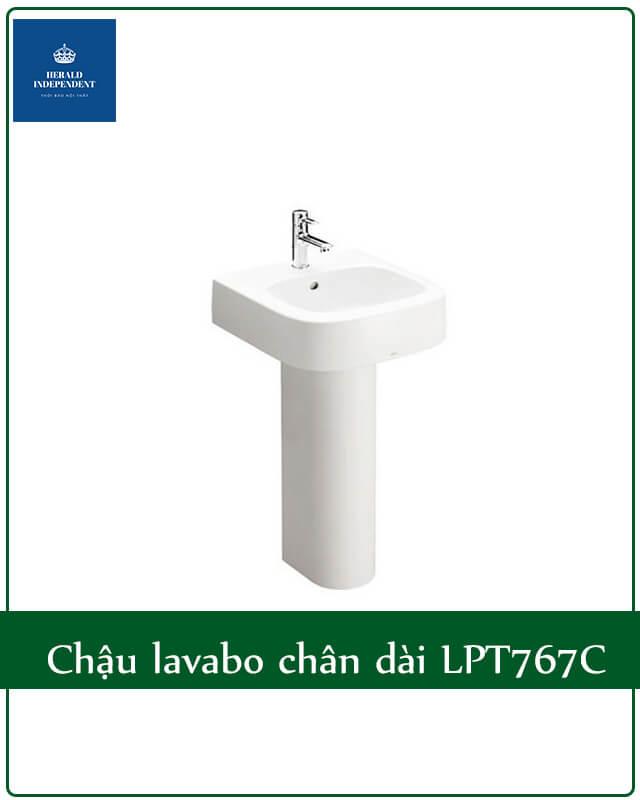 Chậu lavabo chân dài LPT767C