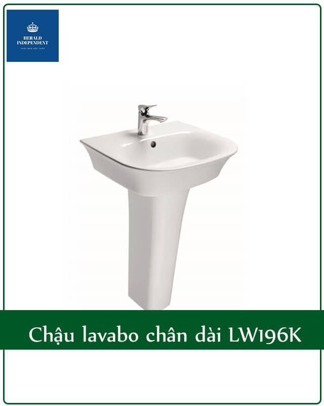 Chậu lavabo chân dài LW196K