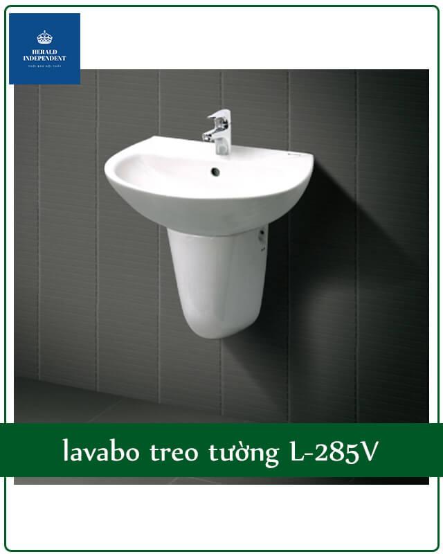 Chậu rửa lavabo chân lửng treo tường L-285V