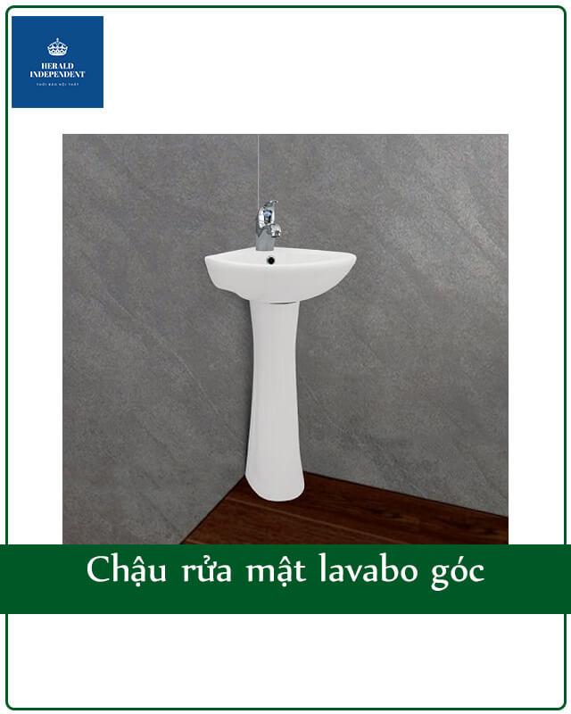 Chậu rửa mặt lavabo góc