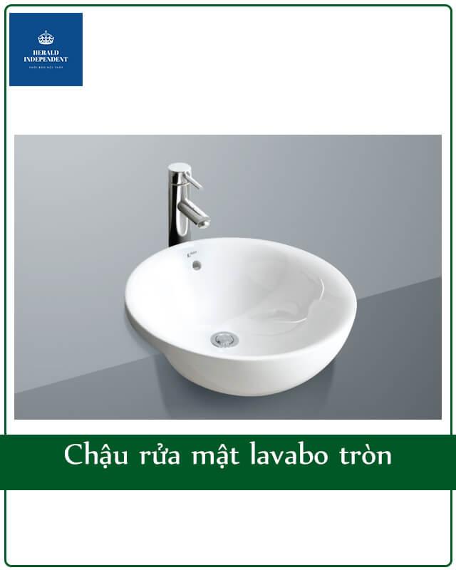 Chậu rửa mặt lavabo tròn