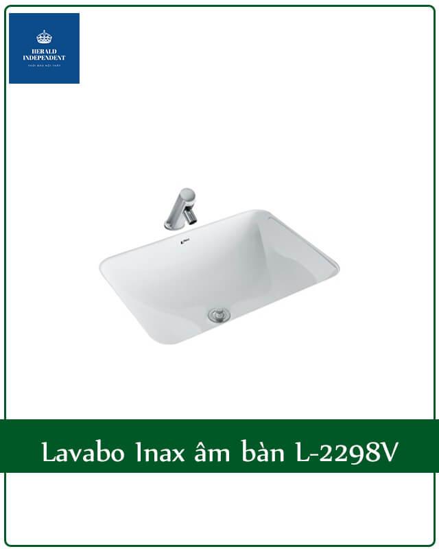 Lavabo Inax âm bàn L-2298V