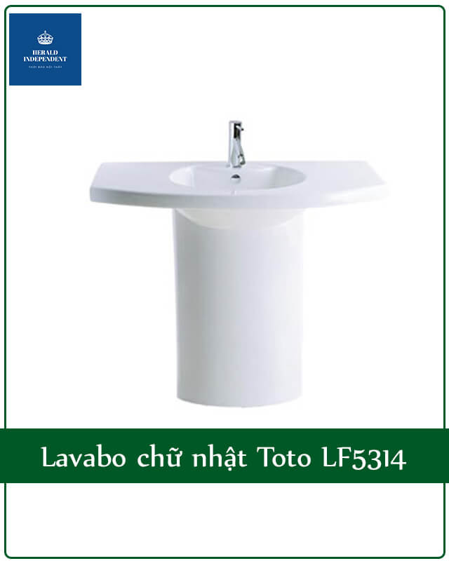 Lavabo chữ nhật Toto LF5314
