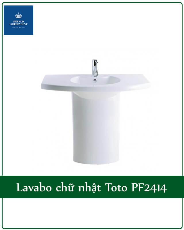 Lavabo chữ nhật Toto PF2414