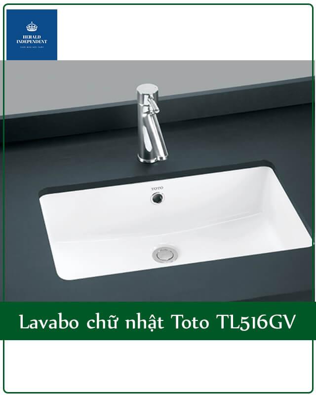Lavabo chữ nhật Toto TL516GV