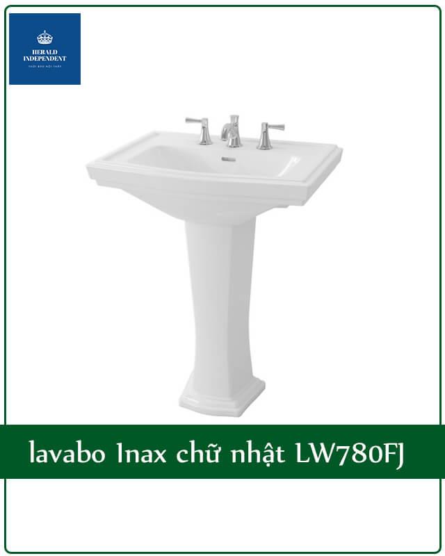 lavabo Inax chữ nhật LW780FJ