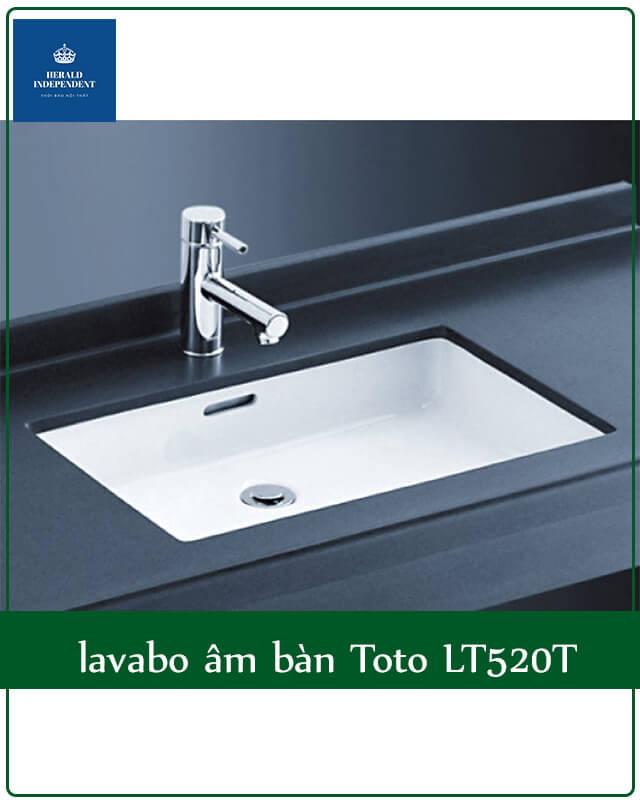 lavabo âm bàn Toto LT520T