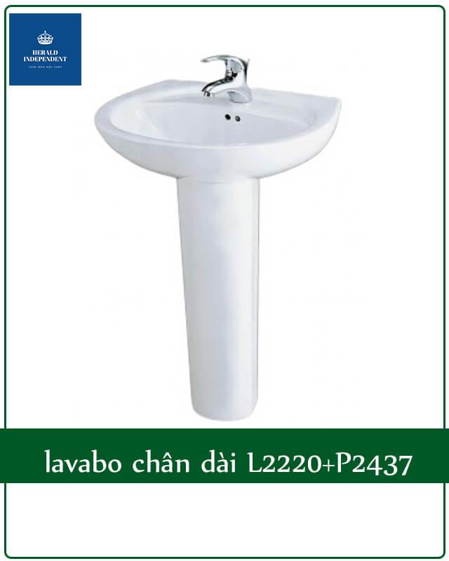 lavabo chân dài L2220+P2437