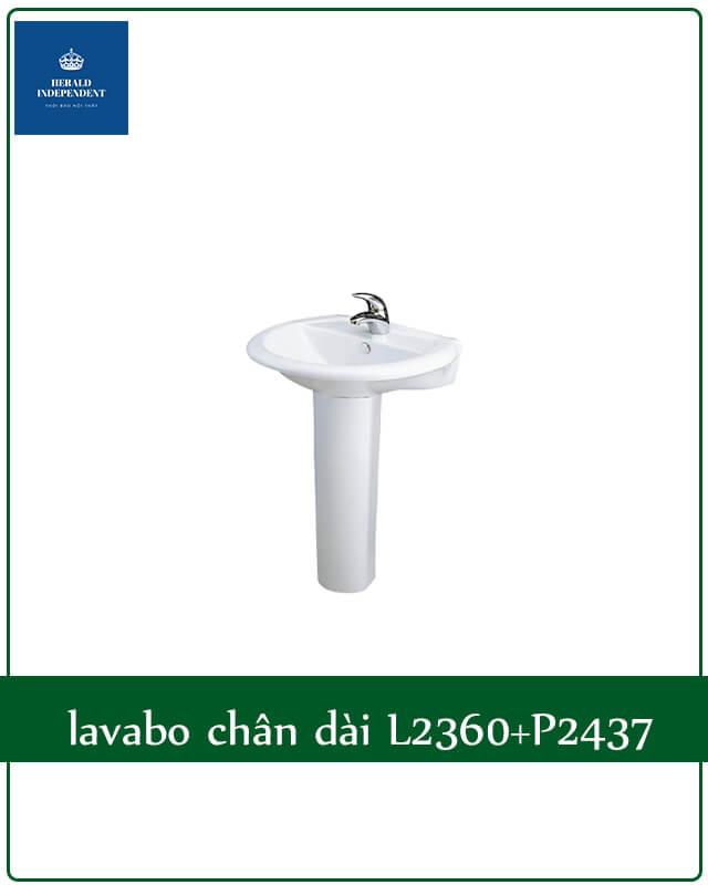 lavabo chân dài L2360+P2437
