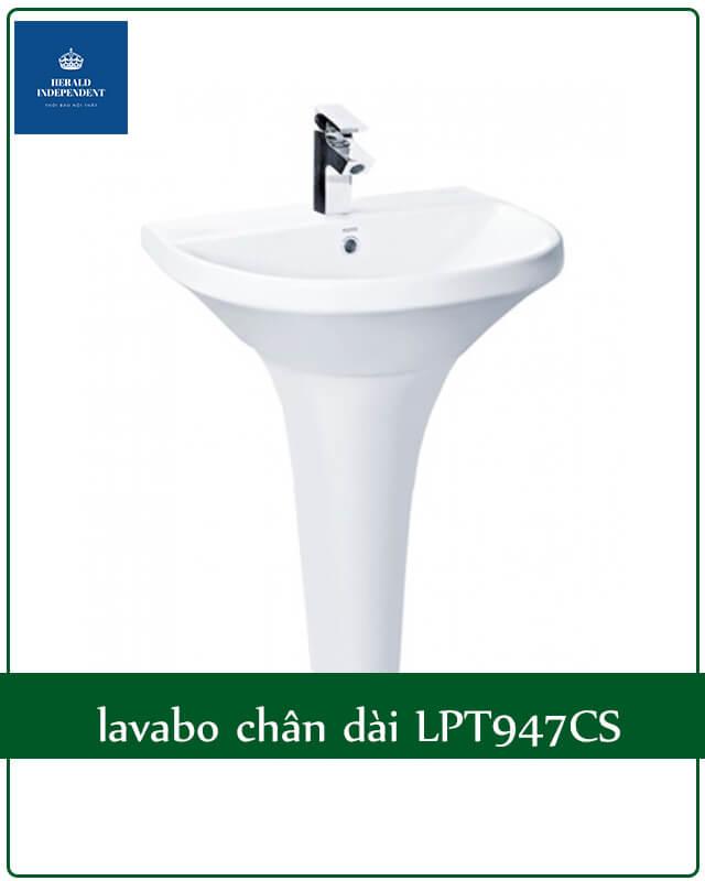 lavabo chân dài LPT947CS