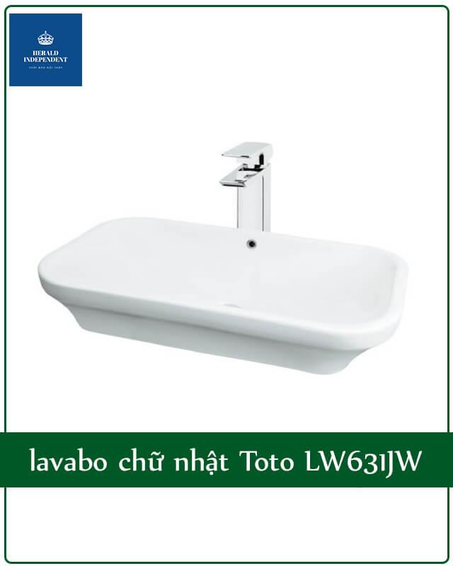 lavabo chữ nhật Toto LW631JW