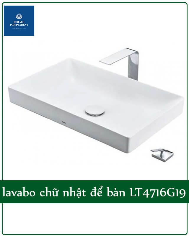 lavabo chữ nhật Toto để bàn LT4716G19