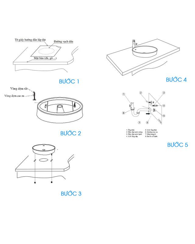 Hướng dẫn lắp đặt bộ xả lavabo Inax A-325PS chính hãng