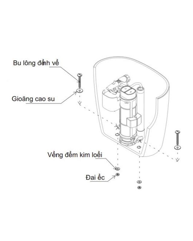 Hướng dẫn lắp đặt bồn cầu TOTO 2 khối CS818DT2