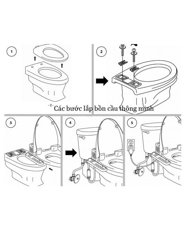 Hướng dẫn lắp đặt nắp rửa cơ TOTO Eco washer TCW07S