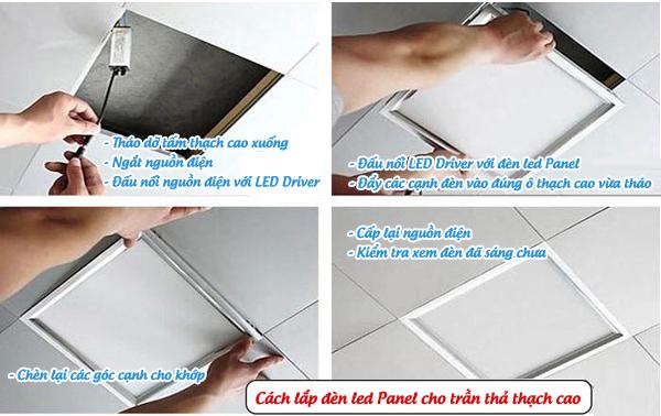 Cách lắp đèn Led Panel sử dụng cho trần thạch cao tấm