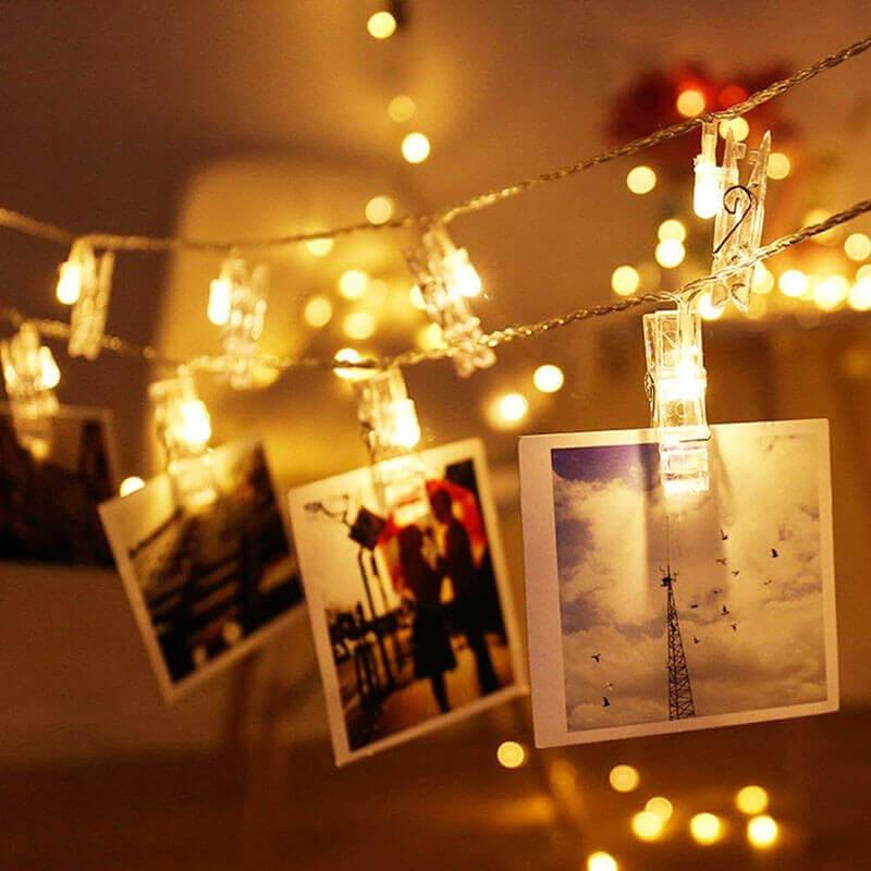 những tấm ảnh đẹp mắt với dây đèn LED trang trí
